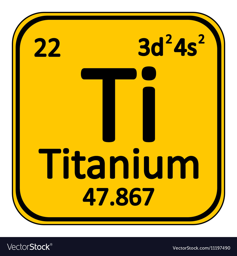 Elegant Periodic Table Element Titanium Icon Vector Image
