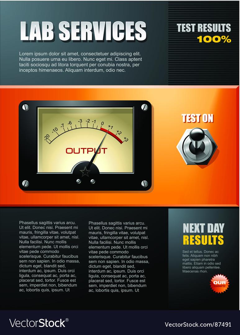 Lab service brochure vector image