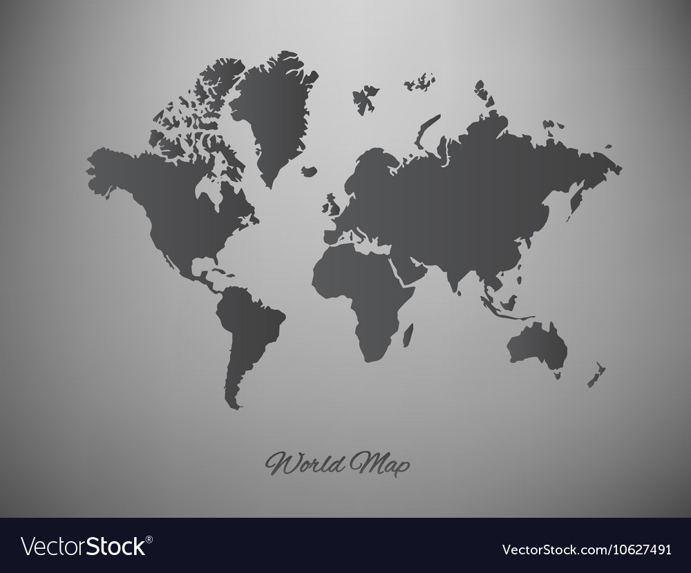 Paper world map on a white background royalty free vector paper world map on a white background vector image gumiabroncs Images