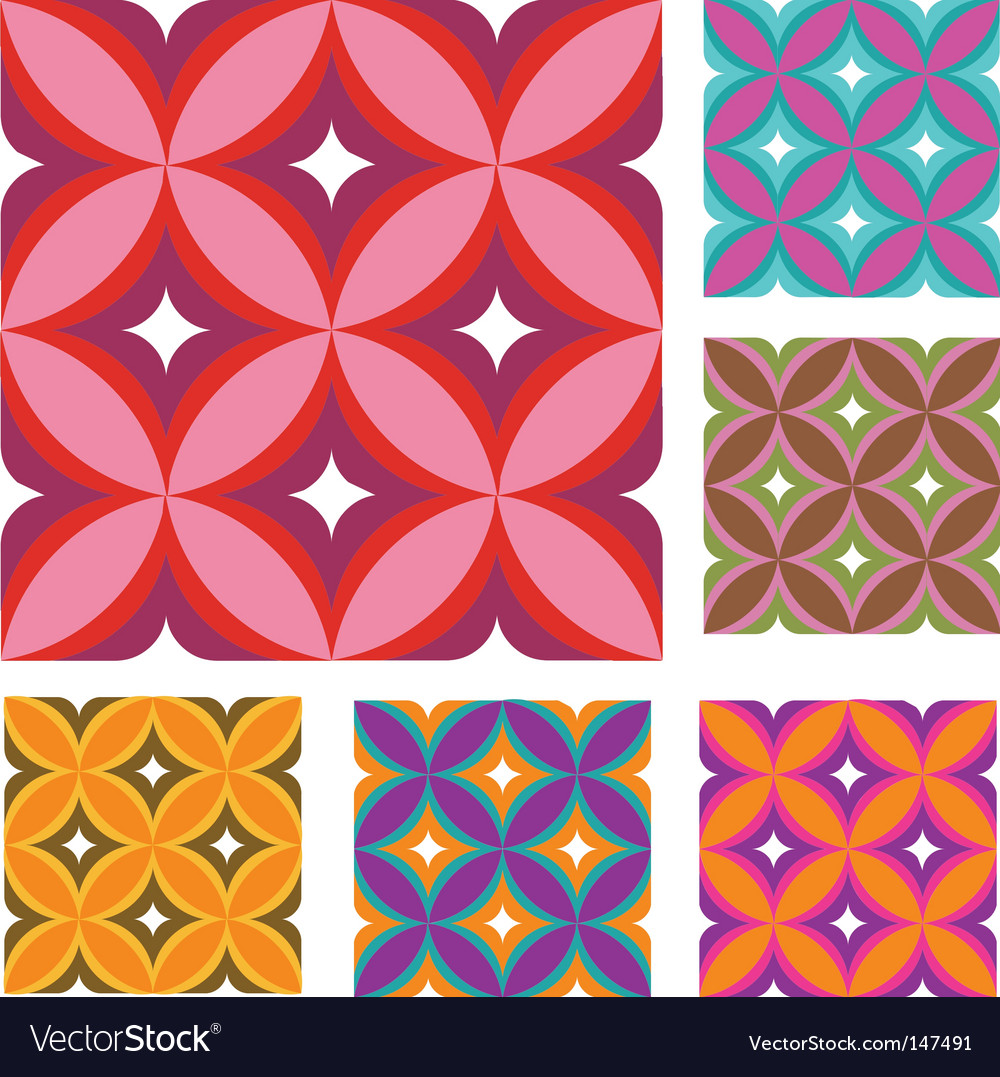 Vintage wallpaper patterns vector image