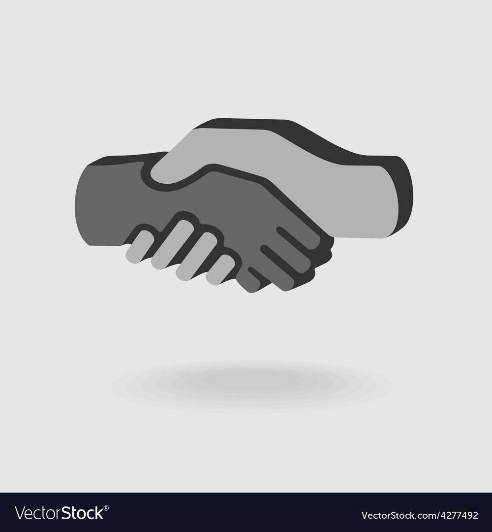 Symbol Handshake vector image