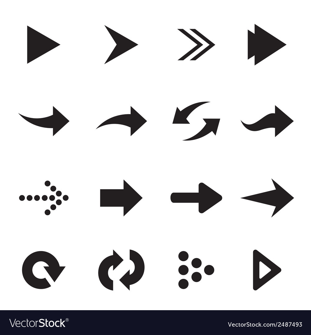 Group of arrow vector image