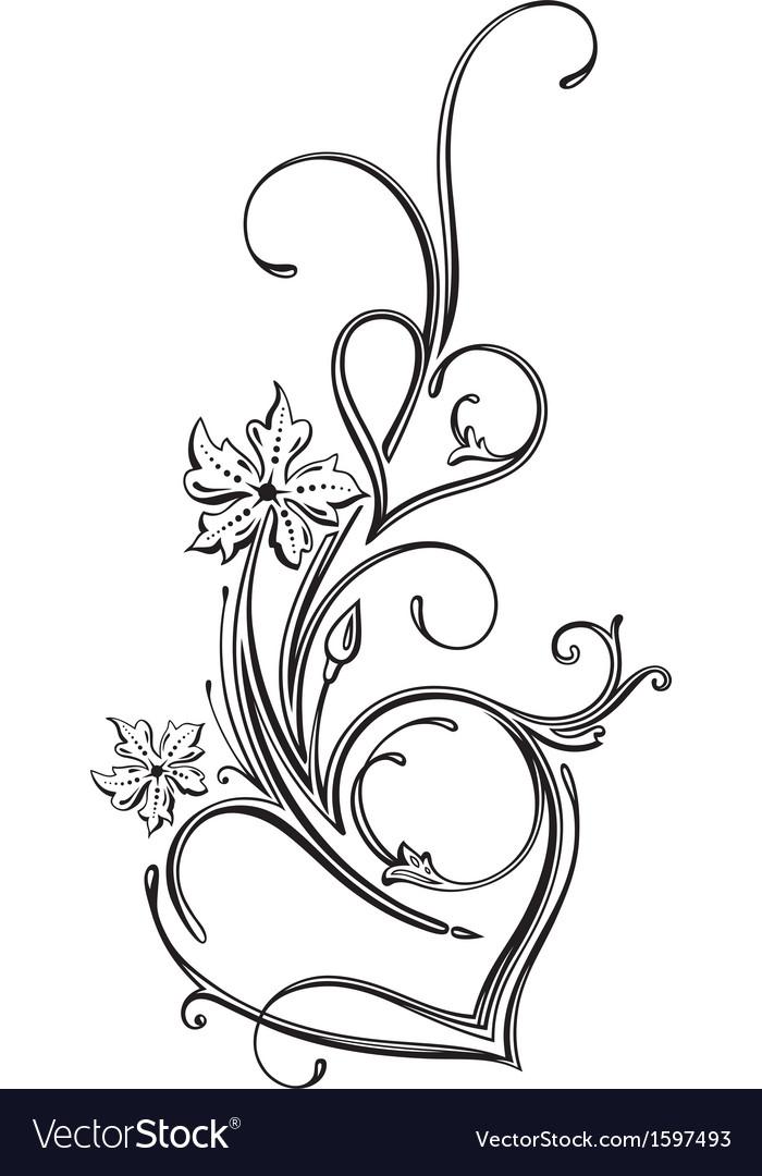 Hearts ornament vector image