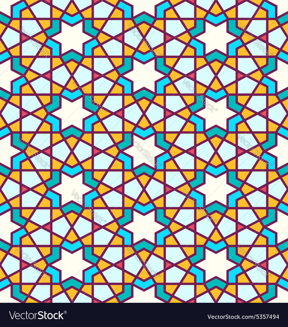 Tangled Pattern based on traditional islam pattern for Modern Arabic Pattern Vector  181pct