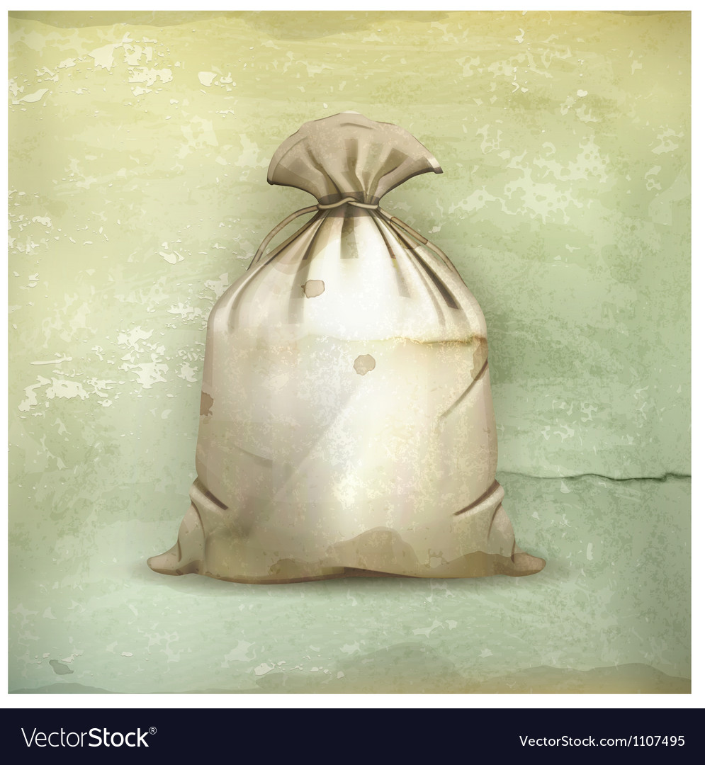 Bag old-style vector image