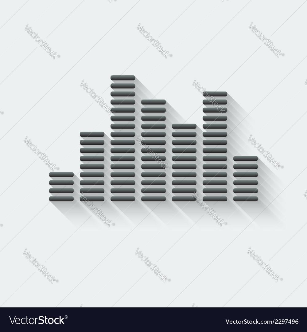 Equalizer music element vector image
