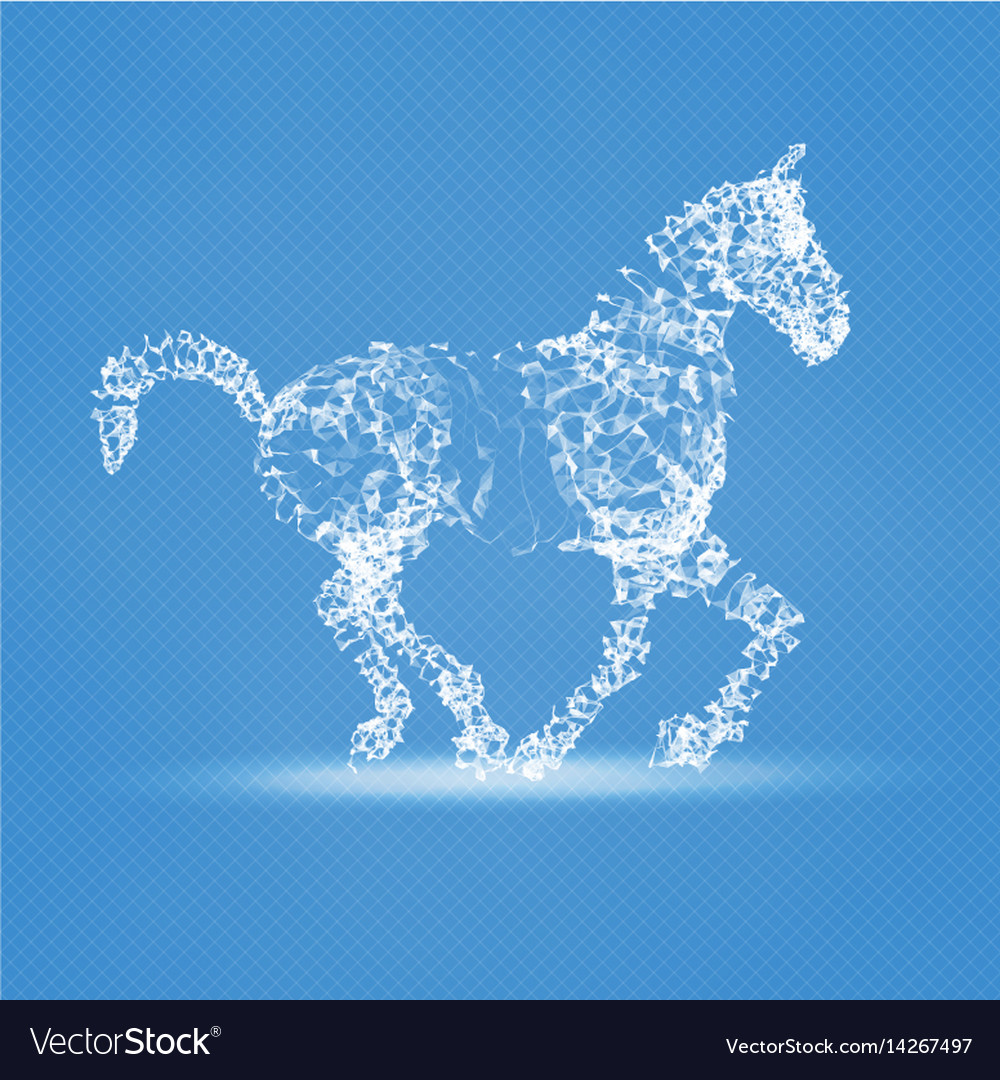 2014 chinese new year of the horse abstract mesh vector image