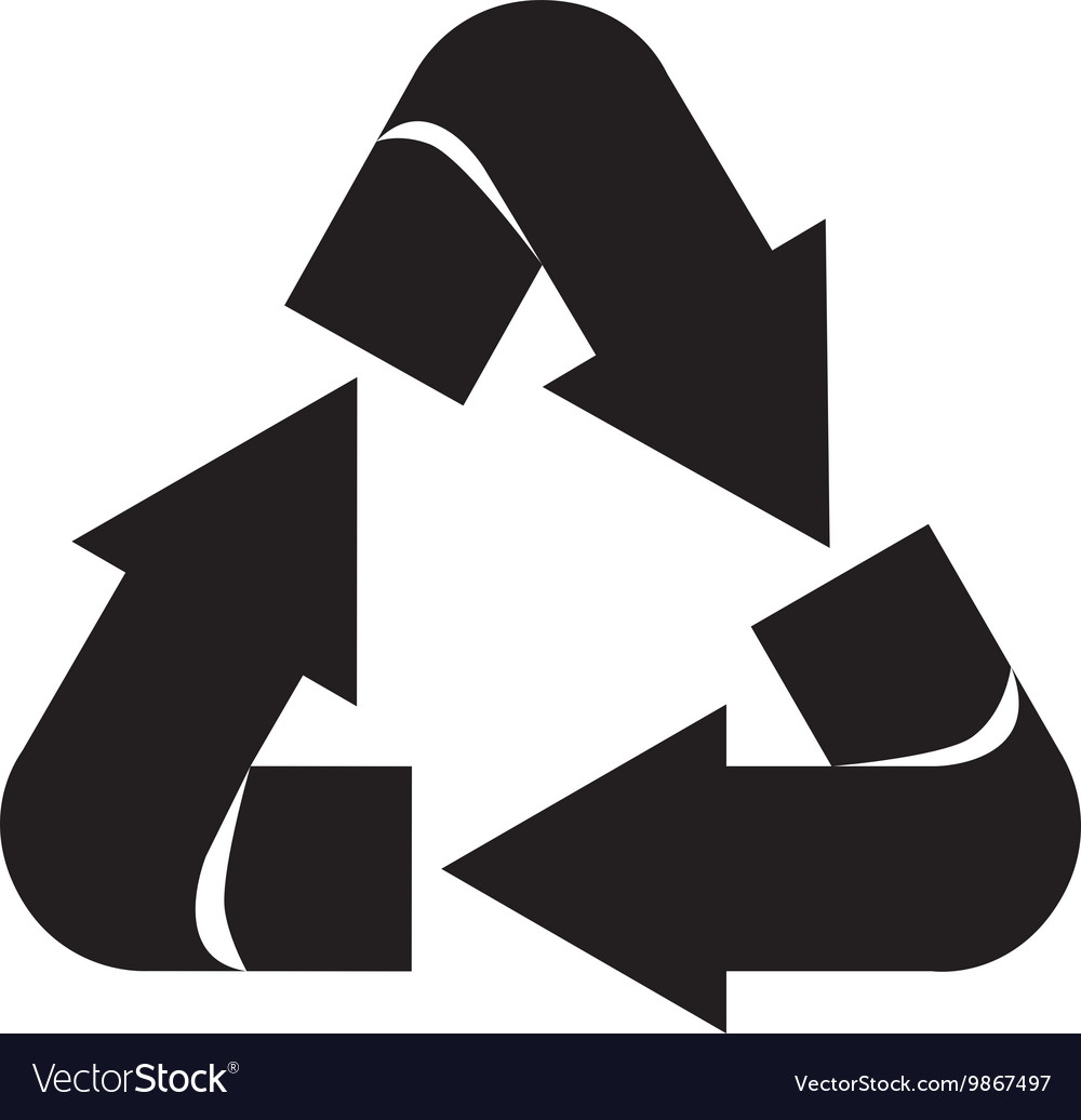 Arrows recycle symbol silhouette isolated icon vector image buycottarizona Choice Image