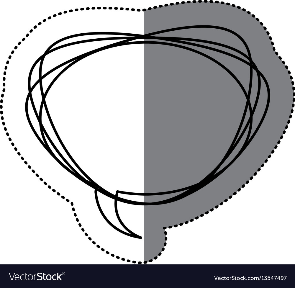Figure round chat bubble icon vector image