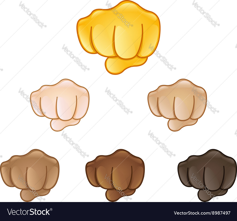 Fisted hand sign emoji vector image