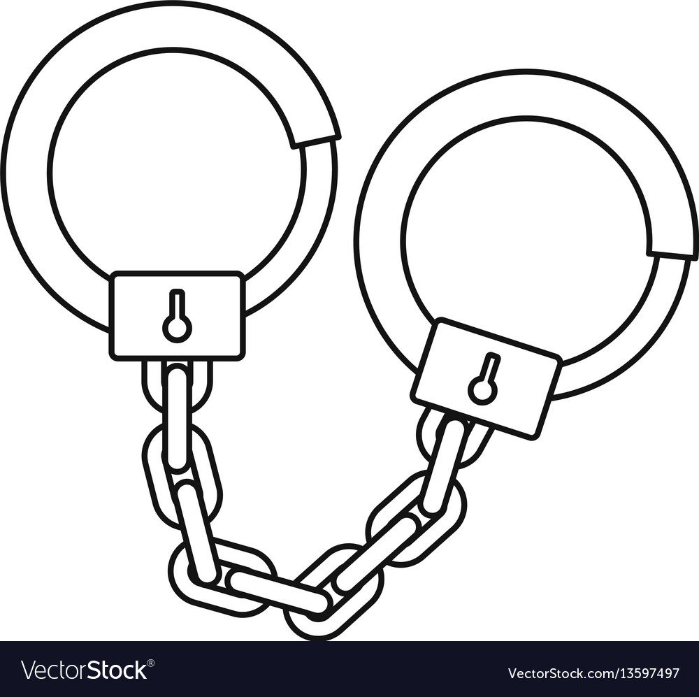 Handcuffs icon outline style vector image