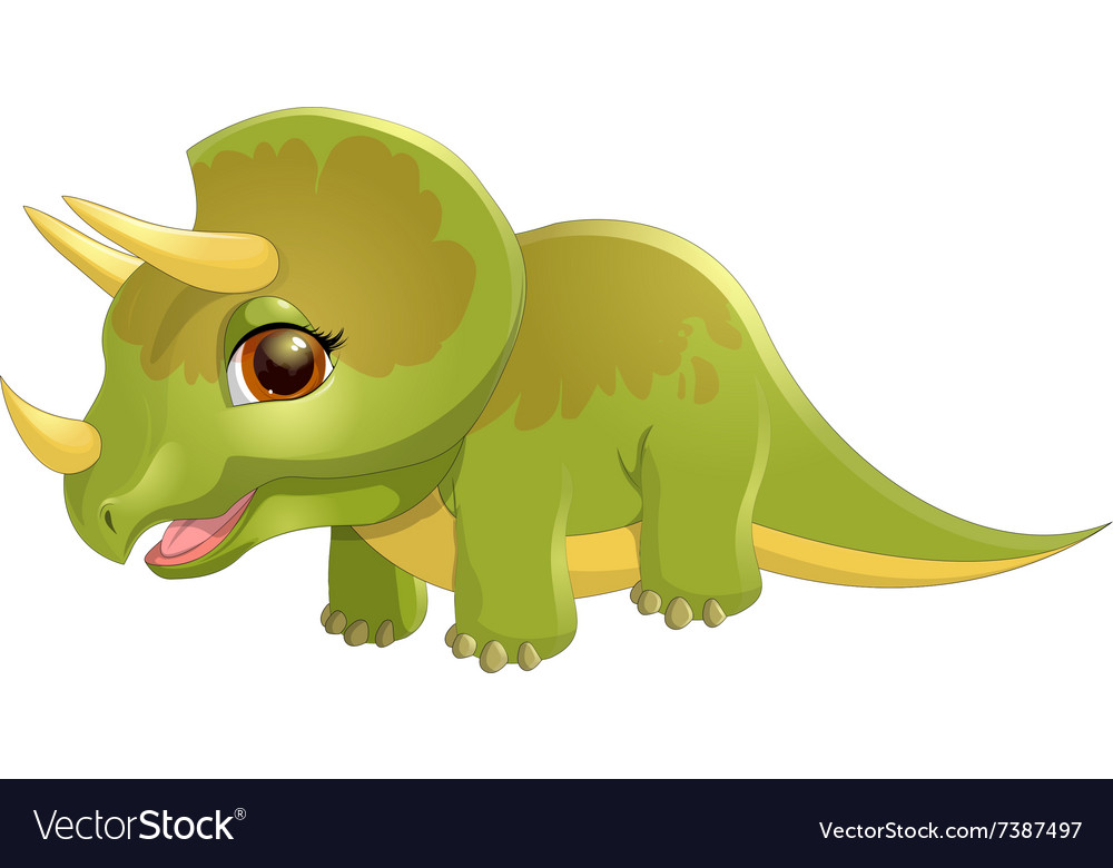 Triceratops on a white background vector image