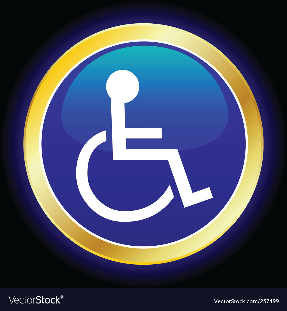 Wheelchair symbol vector image