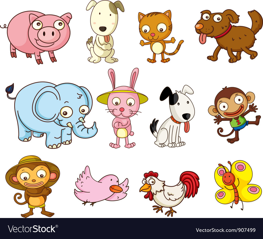 Cartoon animals Royalty Free Vector Image - VectorStock