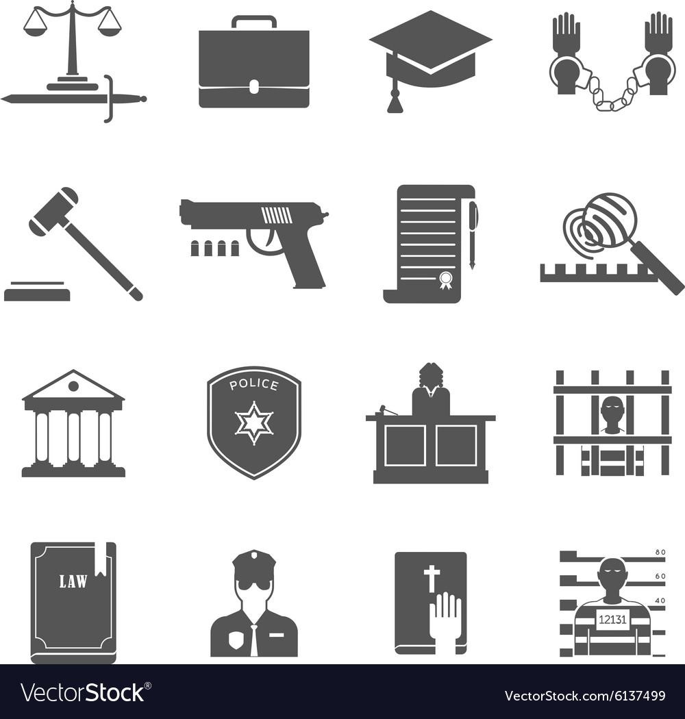 Law Enforcement Icons Set vector image