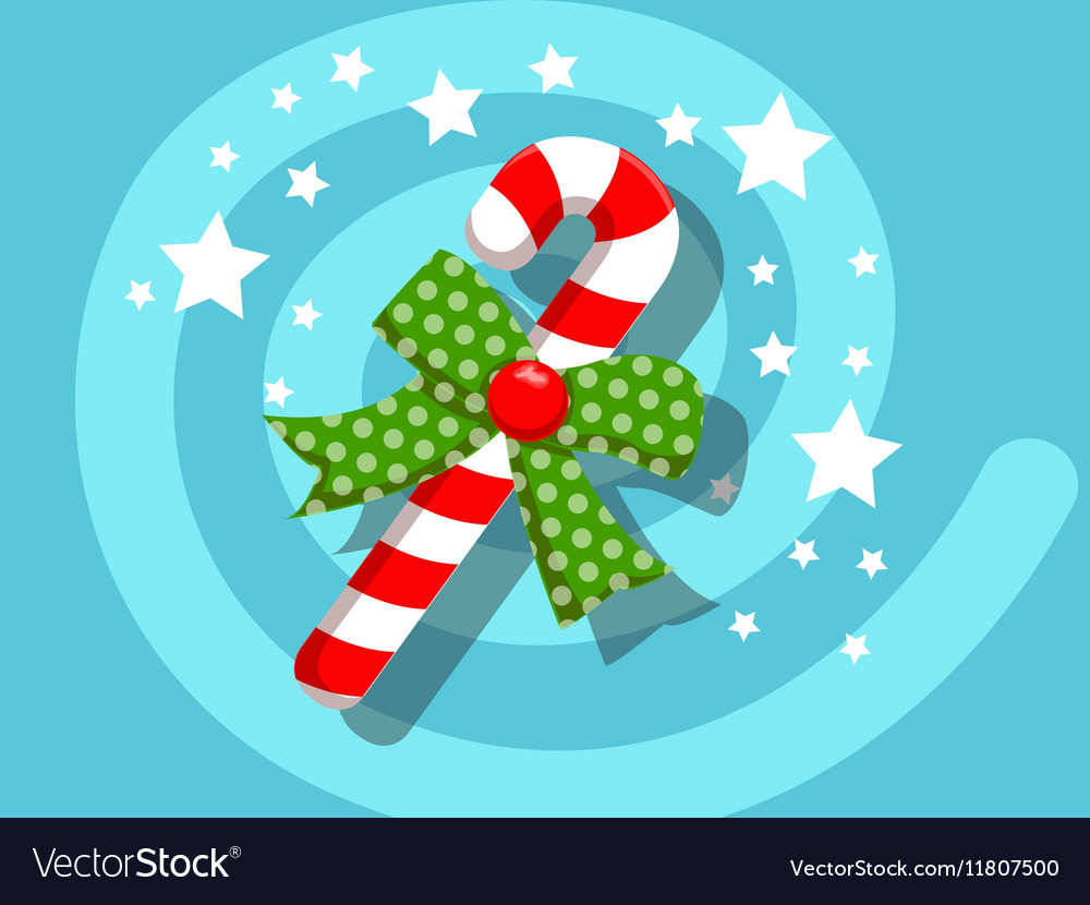 Candy icon christmas vector image