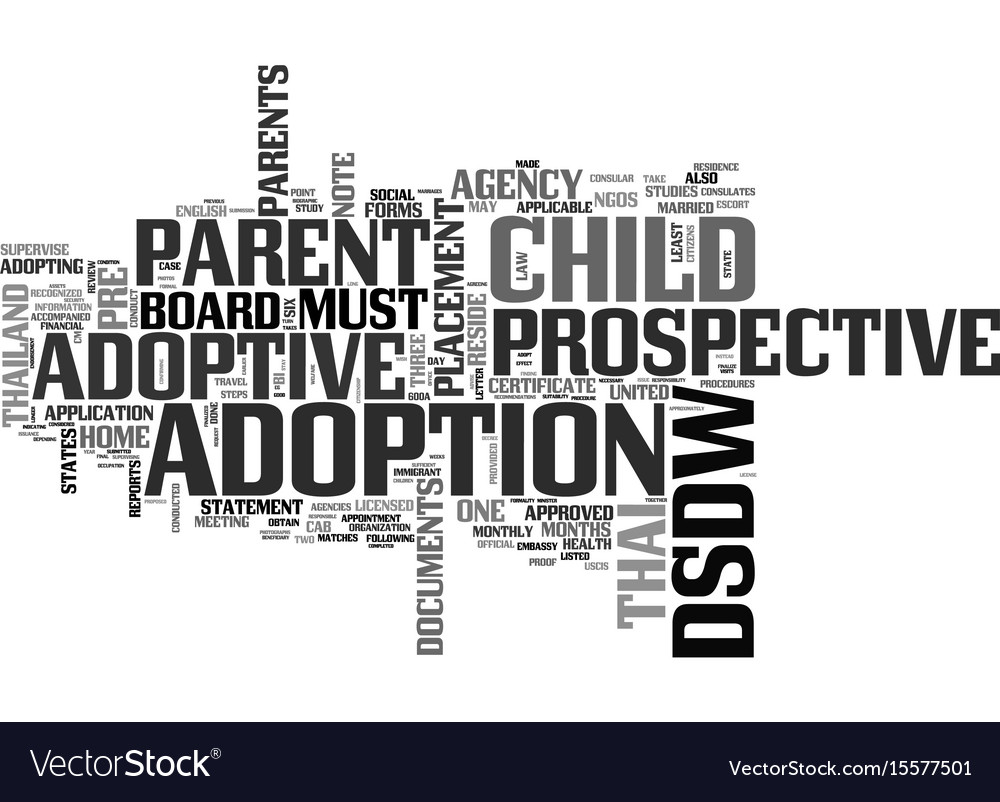 What Are The Procedures To Adopt A Thai Child Vector Image