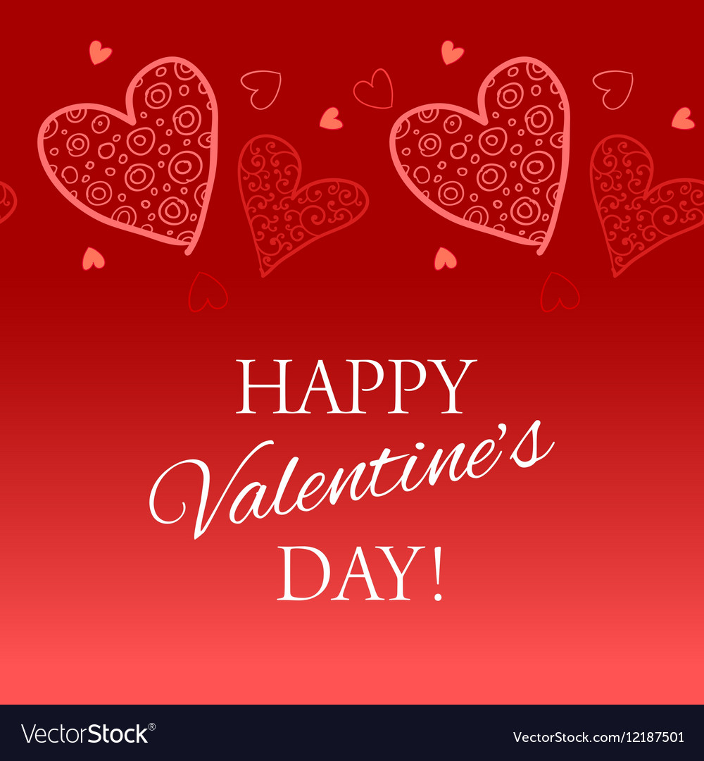 Happy valentine s day lettering greeting card vector image m4hsunfo