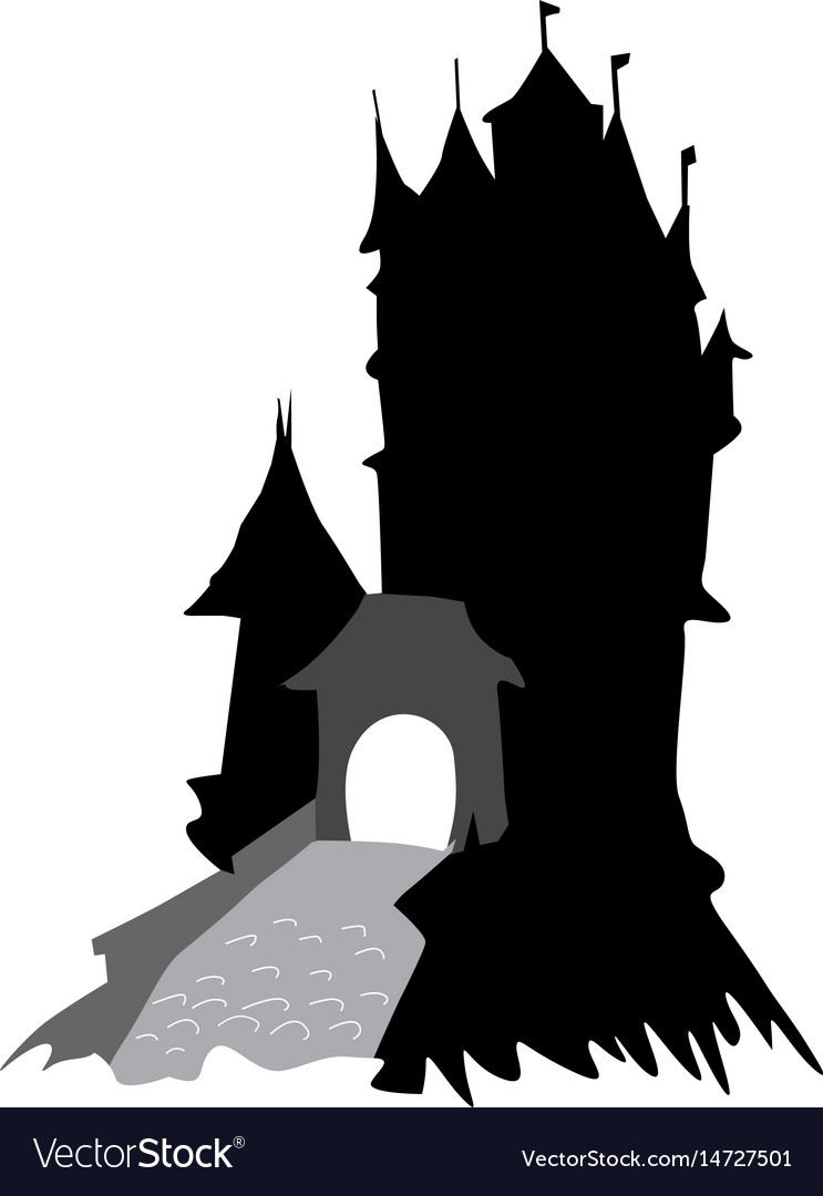 Medieval castle vector image