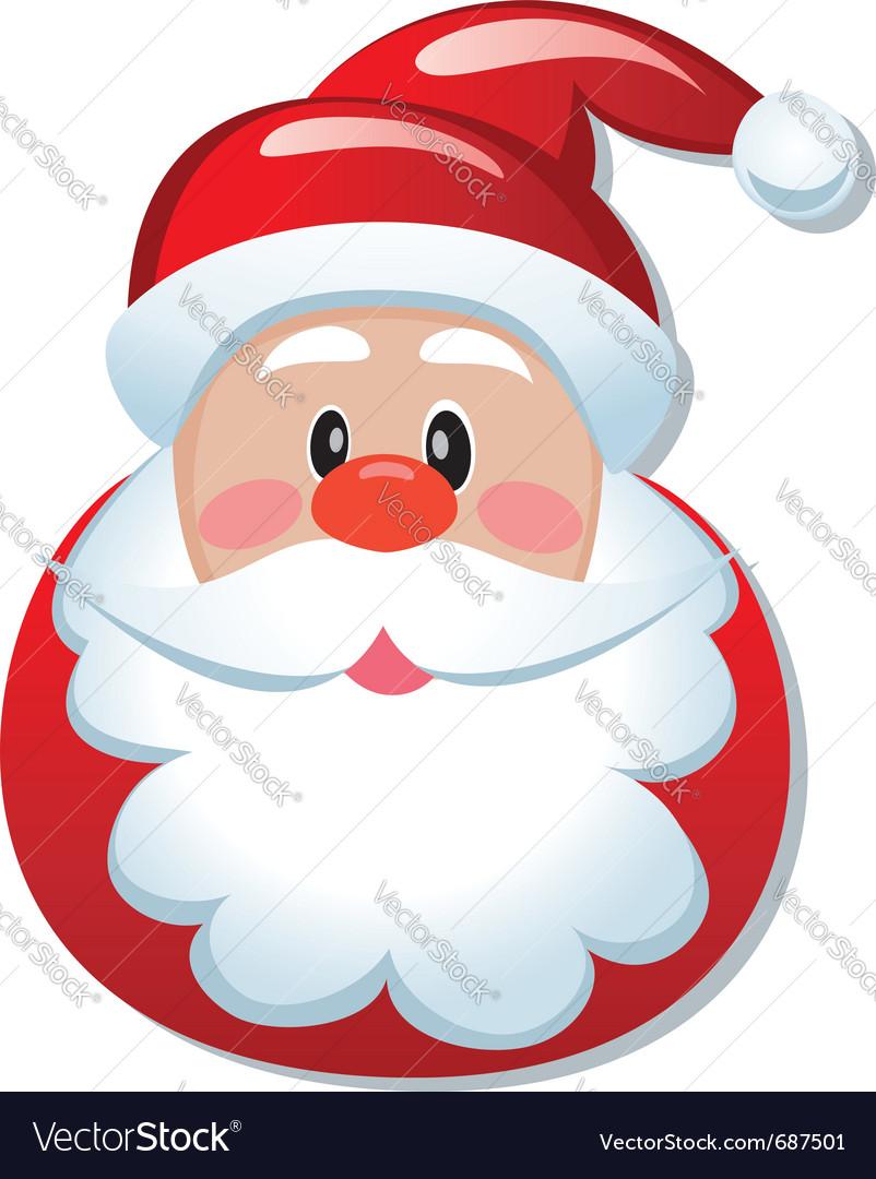 Santa claus icon vector image