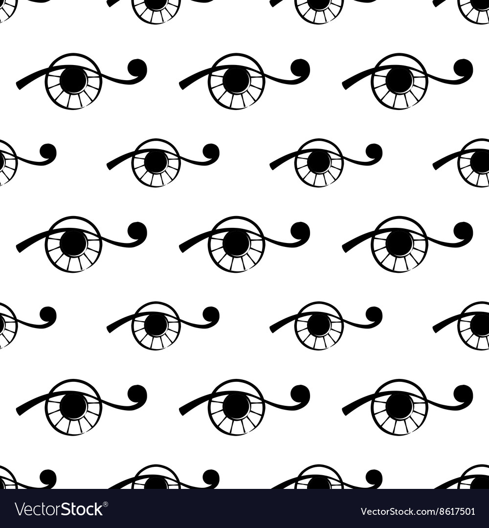 Seamless pattern with abstract eye vector image
