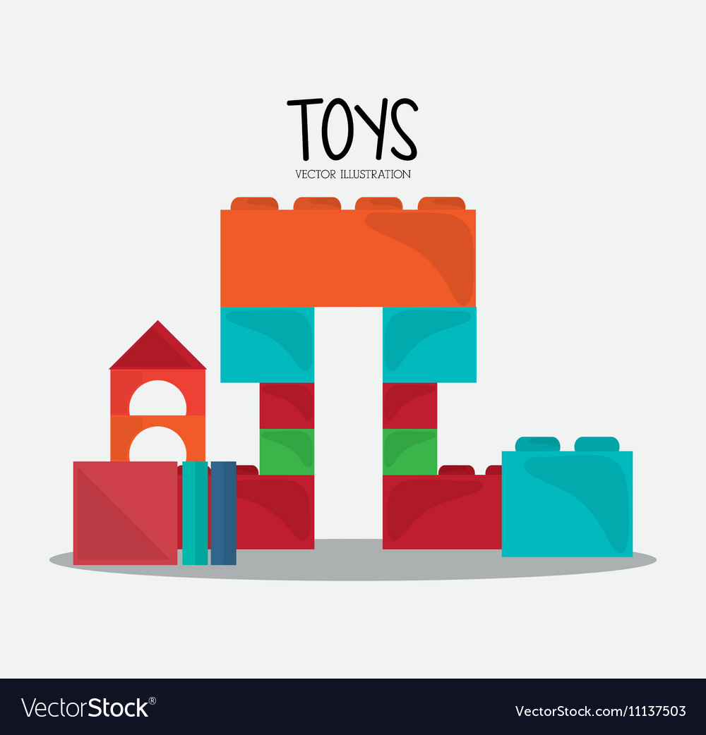 Blocks toy and game design vector image