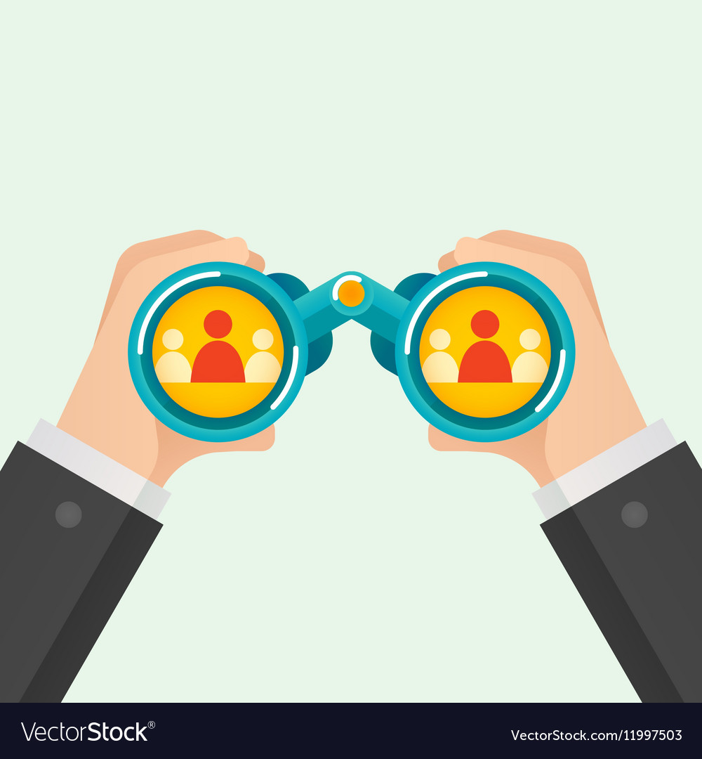 Hand and Binocular Recruitment concept vector image
