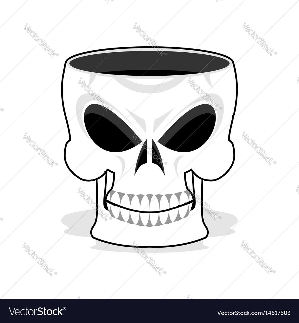 Skull jewelry box skeleton basket terrible pirate vector image