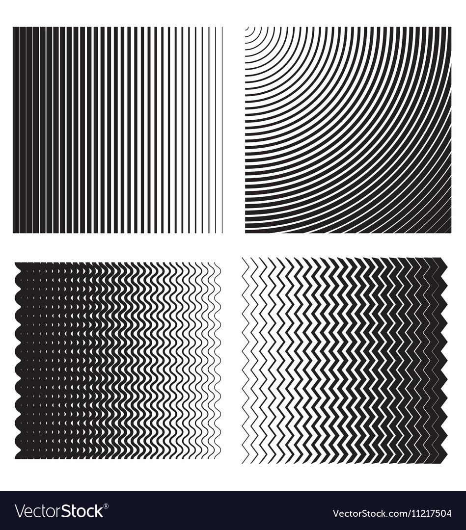 Line gradient effects vector image