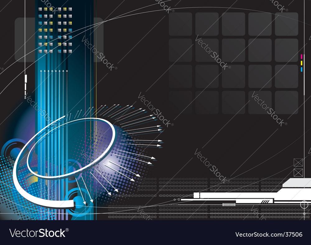 High-tech infinity vector image