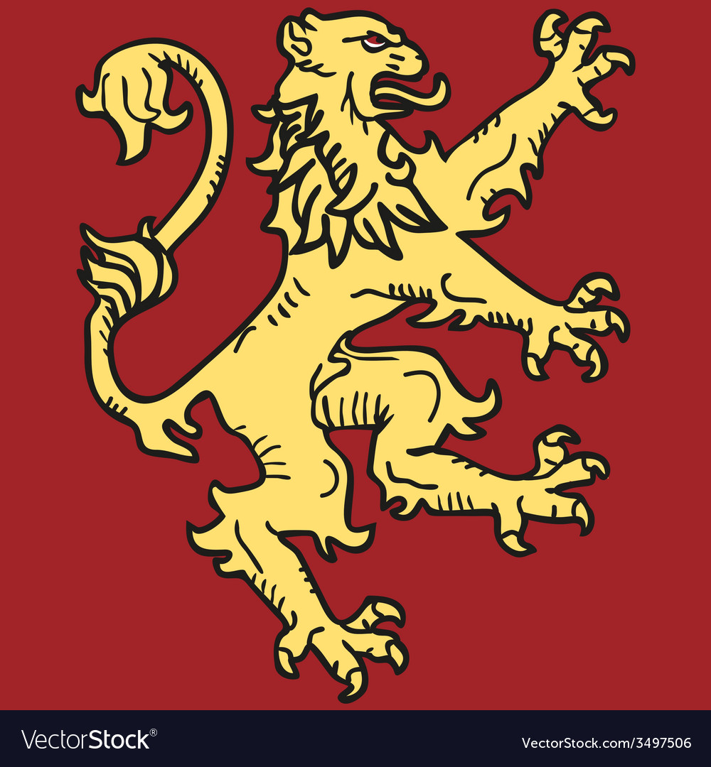 Coat of arms with lion vector image