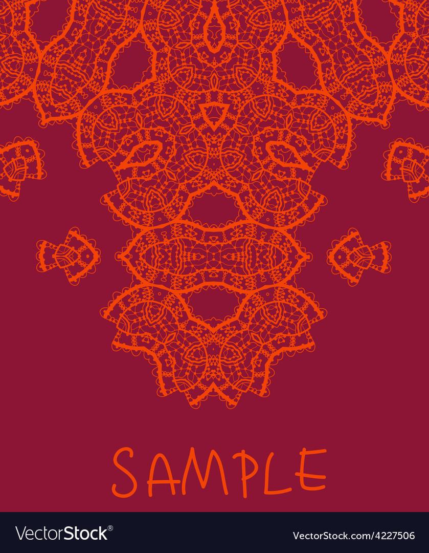 Wedding invitation stylized indian mehndi vector image wedding invitation stylized indian mehndi vector image stopboris Images