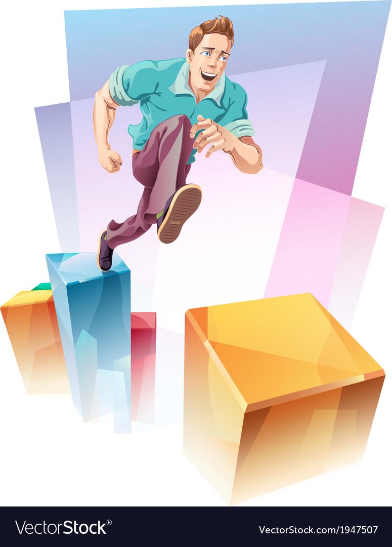 Jumping Up vector image