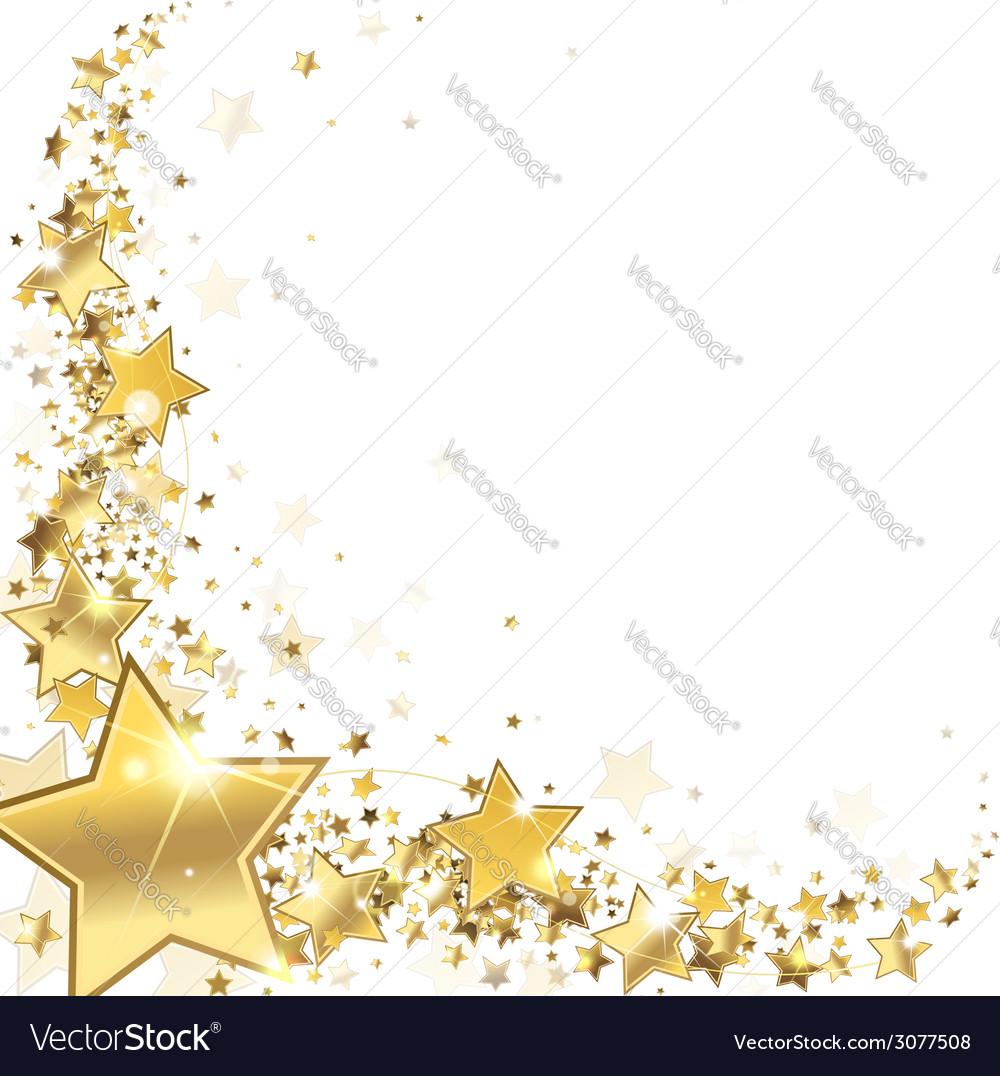 Frame gold stars Royalty Free Vector Image - VectorStock - photo #24