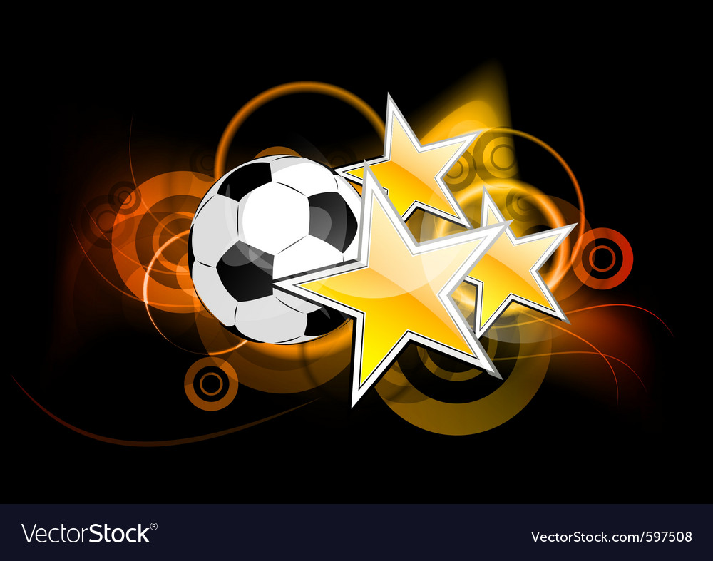 Football stars vector image