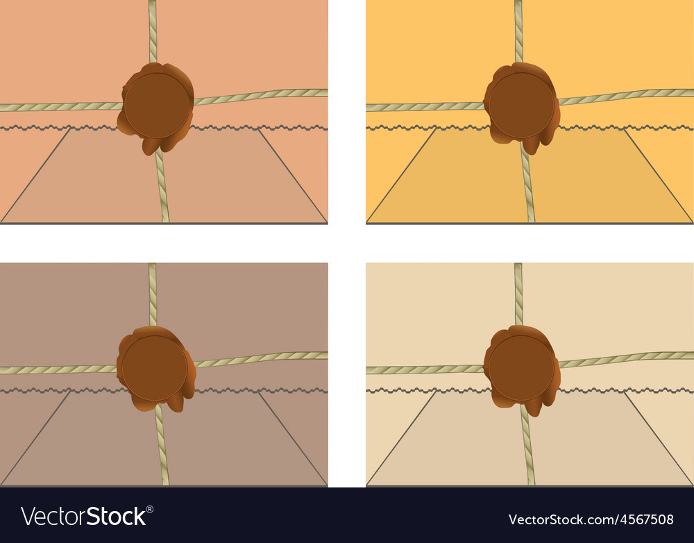 Mail envelopes or letters with wax seal vector image