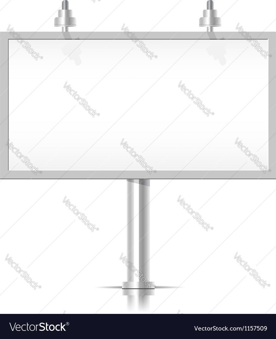 White Bilboard Vector Image