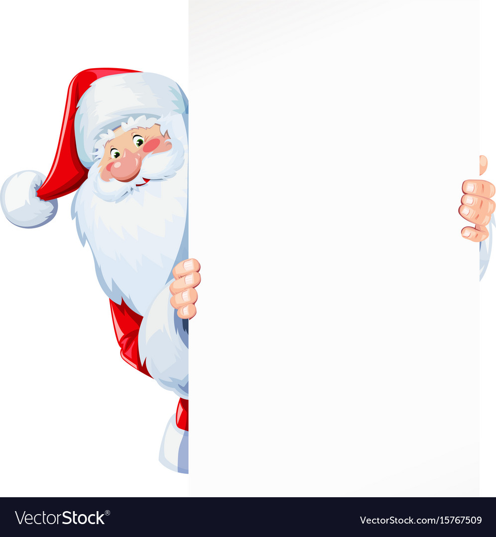 Santa claus hold sheet vector image