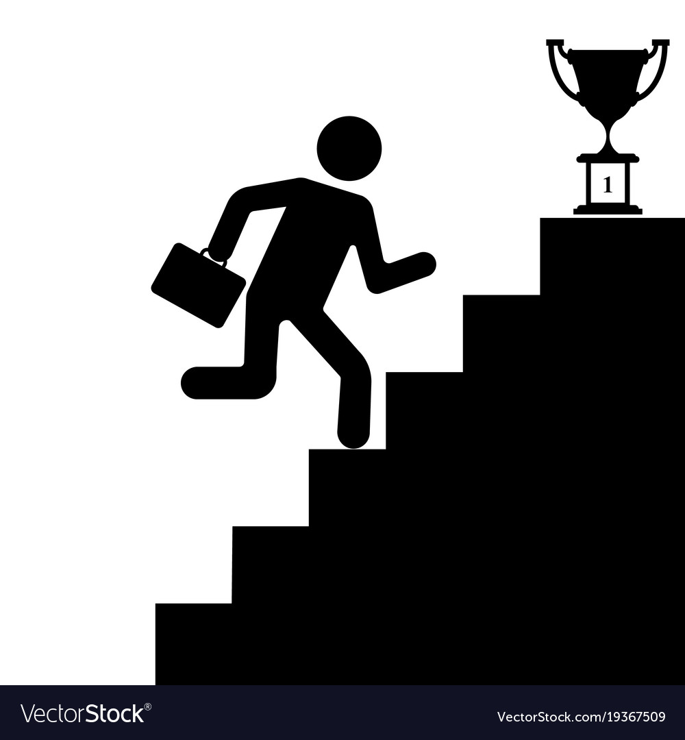 The human figure climbing the stairs to success Vector Image for Climbing Stairs To Success  110yll