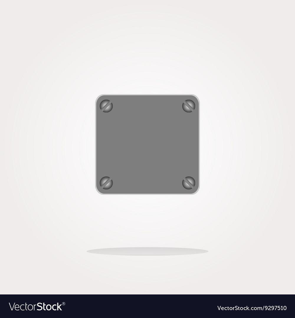 Glossy empty speech bubble web button icon vector image