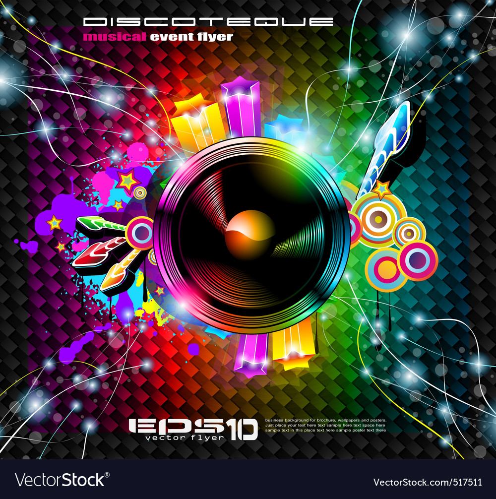 Club Flyer Background Vector Image