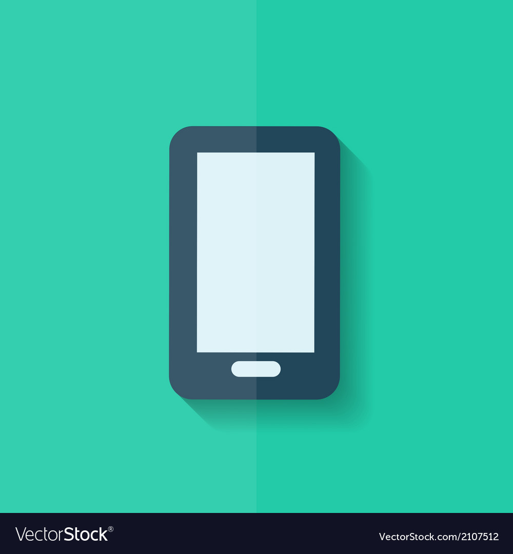 Smartphone Icon Mobile phone Flat design vector image
