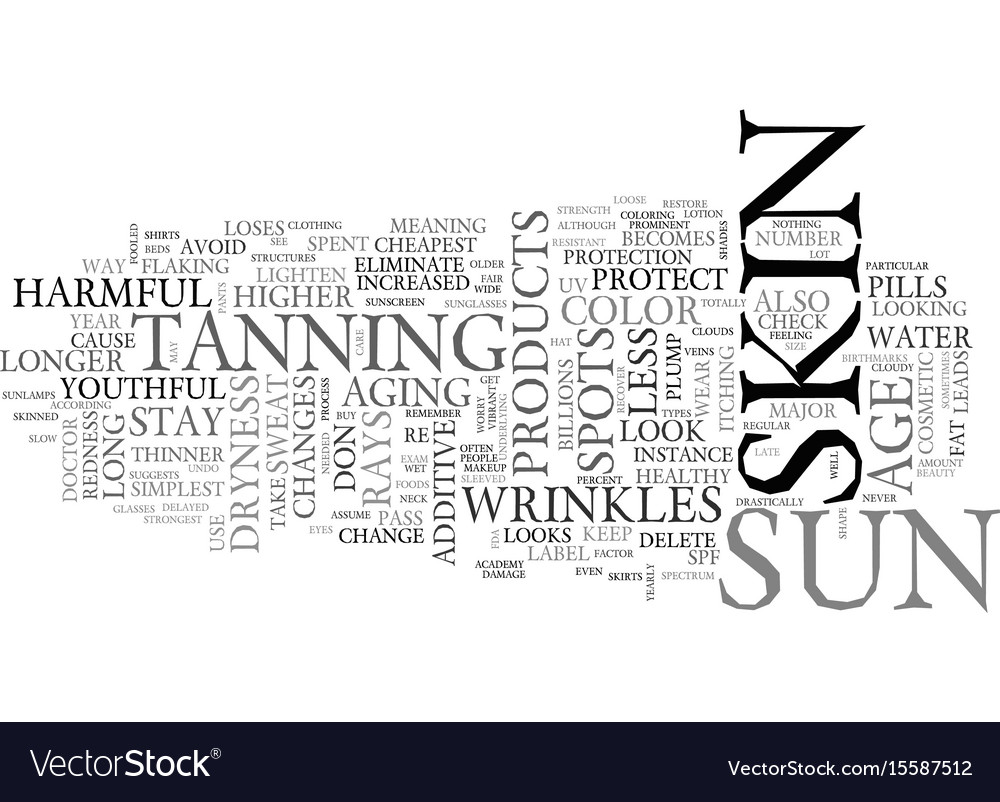 Youthful and vibrant skin text word cloud concept vector image