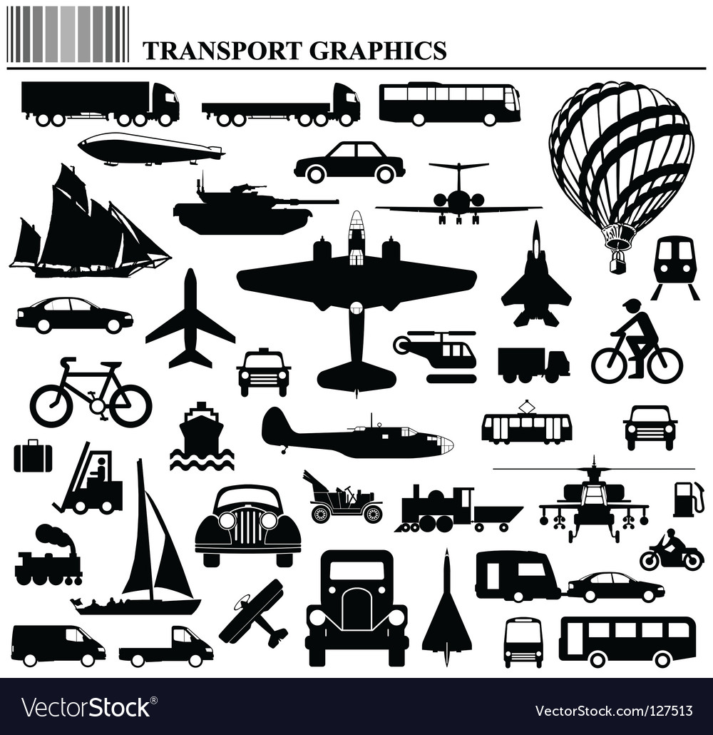 Transport graphics vector image