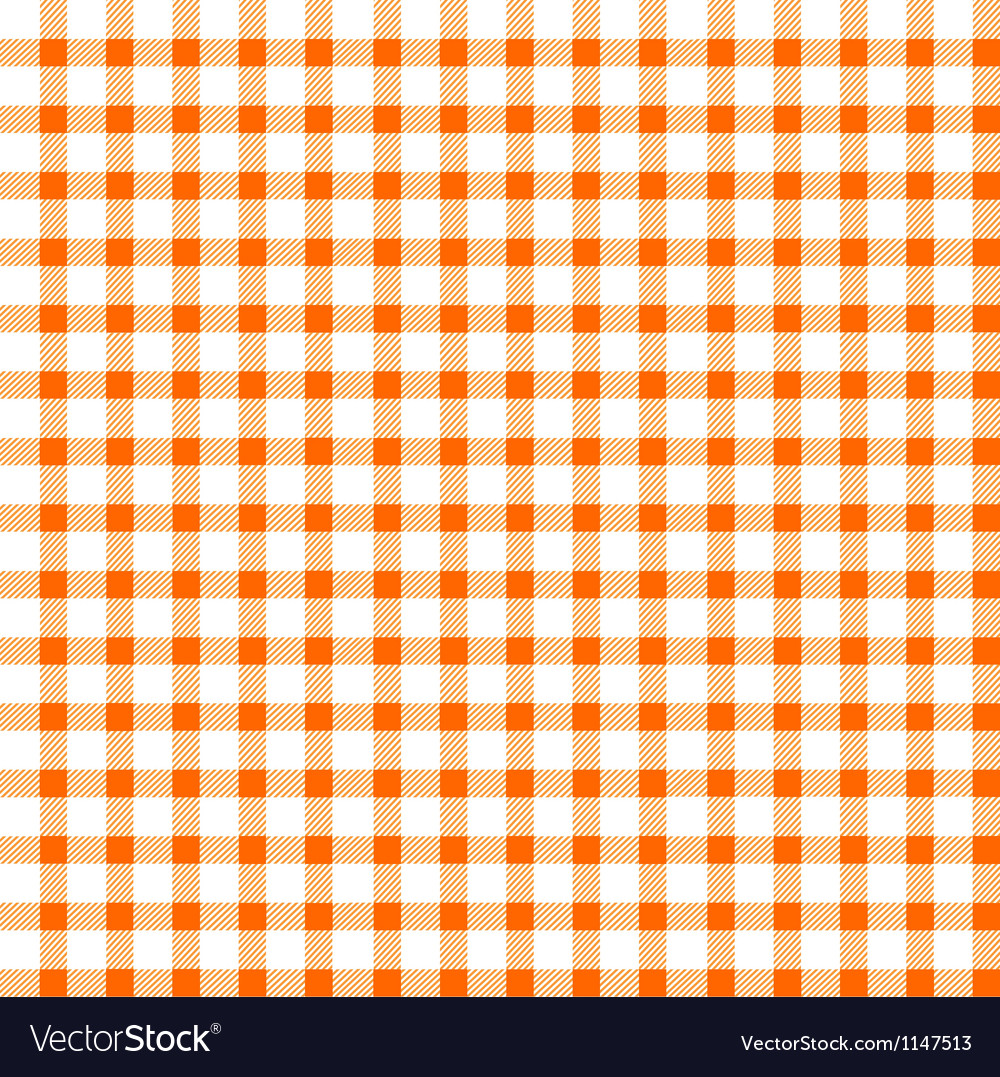 Seamless retro white-orange square tablecloth vector image