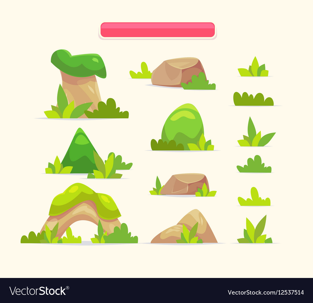 A set cartoon spring or summer vector image