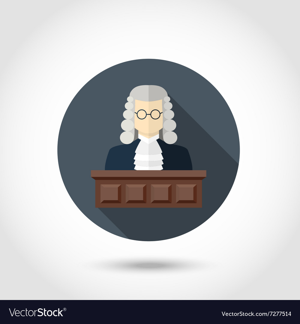 Judge flat icon vector image