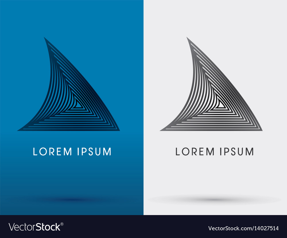 Shark fin vector image