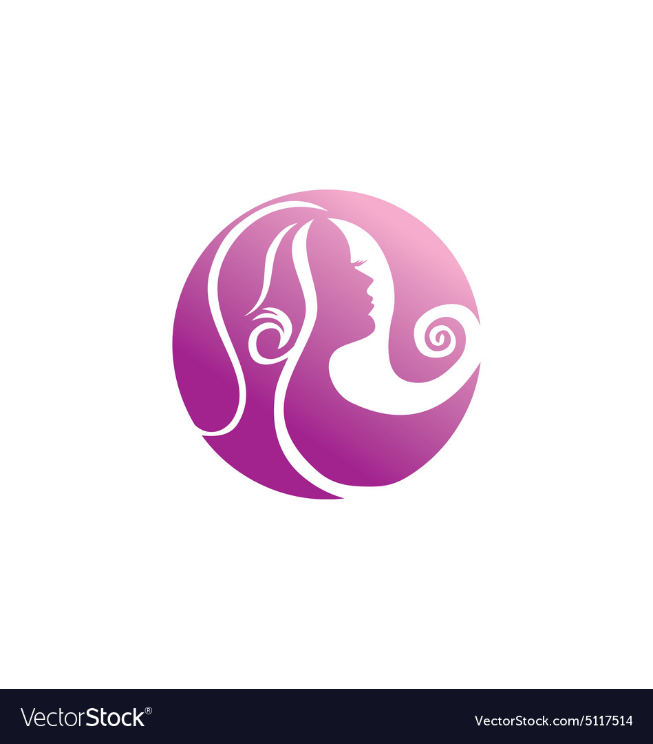 Woman beauty abstract hair logo vector image