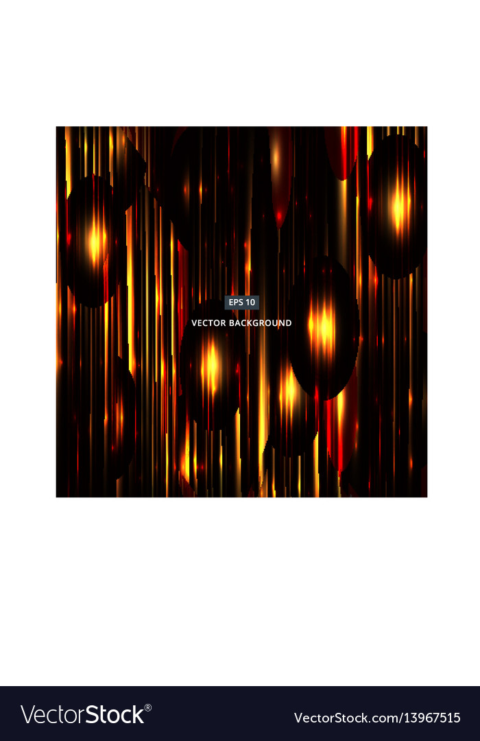 Abstract with a yellow-orange glowing background vector image